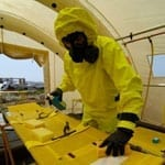 Chemical Hazmat Worker in Decon Facility