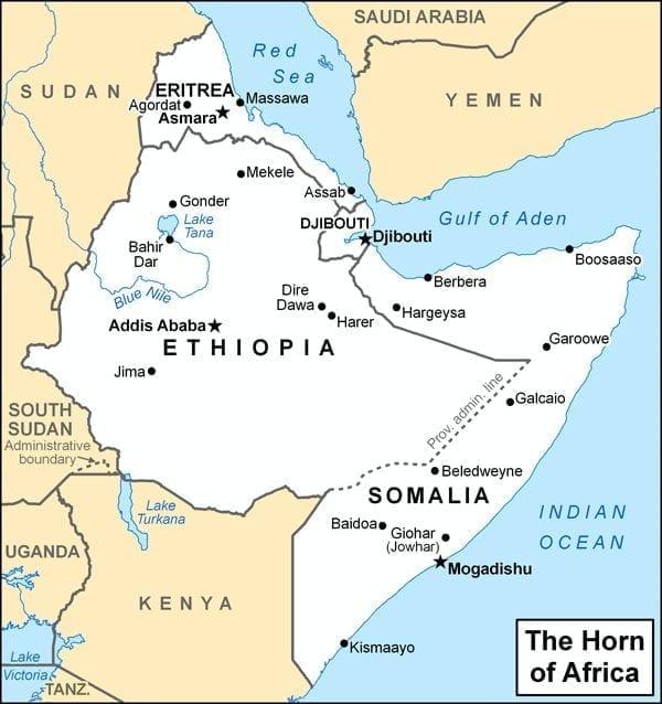 Horn Of Africa Map  My blog