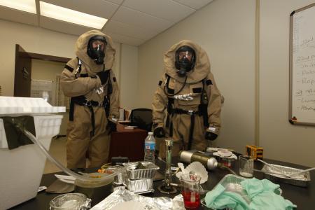 CBRN Marines Train to Respond to Chemical Warfare Threat