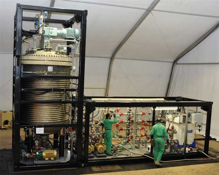 Field Deployable Hydrolysis for Chemical Weapon Neutralization