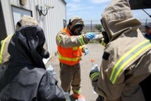 Marines Conduct Biohazard Training