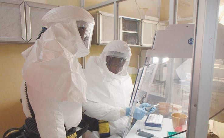 USAMRIID Ebola Laboratory