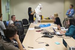 Ebola Training on PPE Donning and Doffing