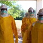Ebola Response Workers in PPE