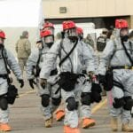 National Guard Personnel During CBRN Training