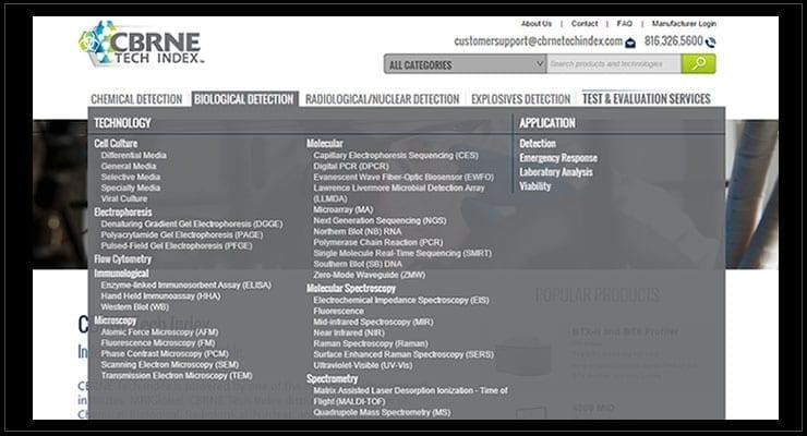 CBRNE Tech Index Biological Detection