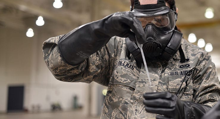 Air National Guard CBRN Training - Testing Samples