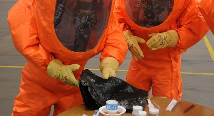 CBRN Hazmat Suit Exercises - Level A Olympics