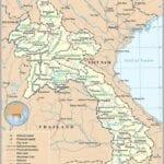 Map of Laos - Lao People's Democratic Republic