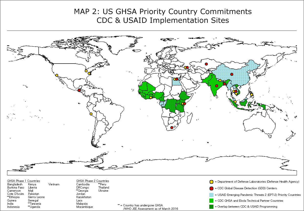 GHSA Priority Country Commitments CDC & USAID Sites