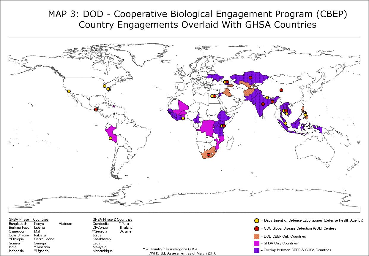 DoD - Cooperative Biological Engagement Program (CBEP) Map