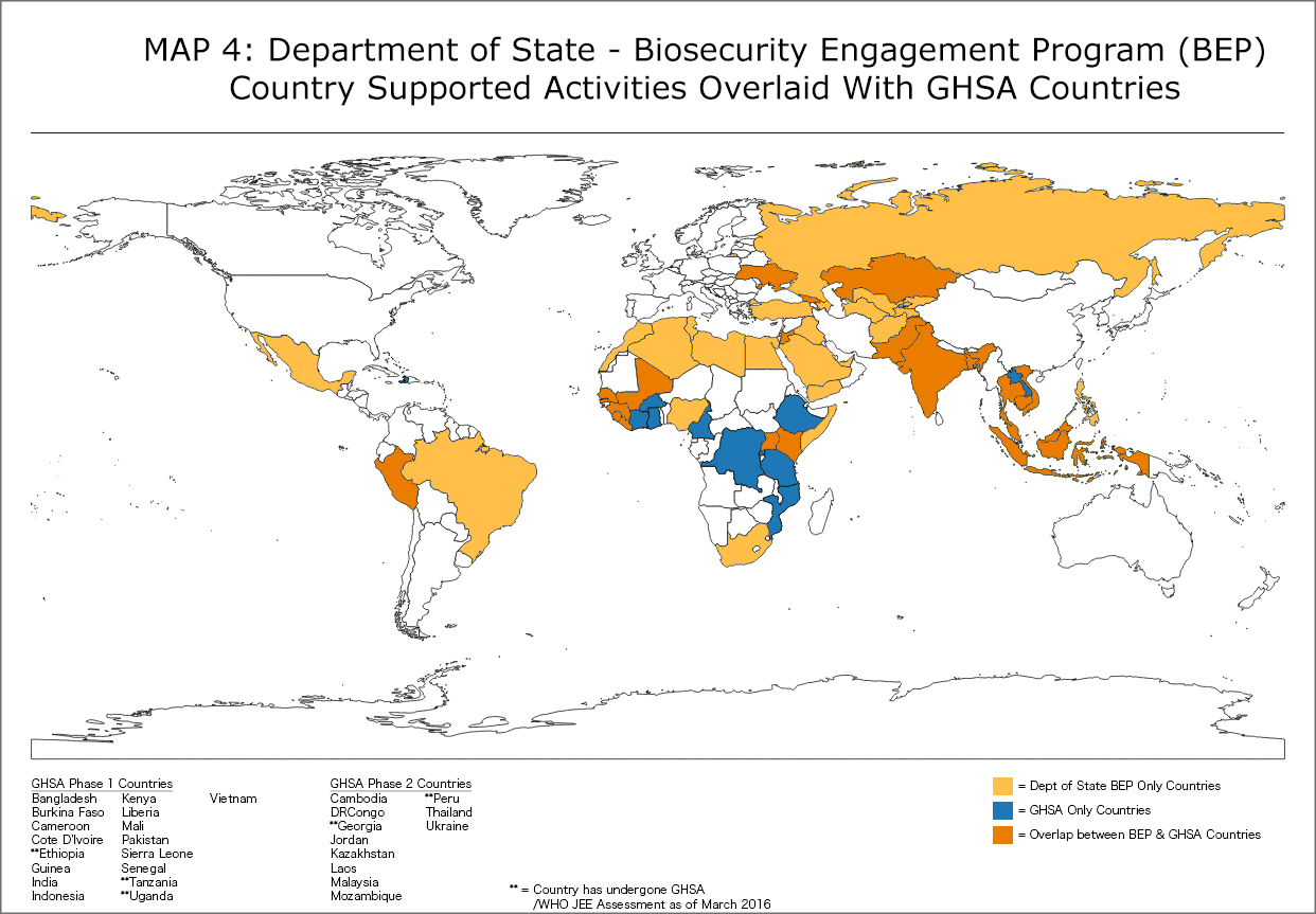 Department of State - Biosecurity Engagement Program Map
