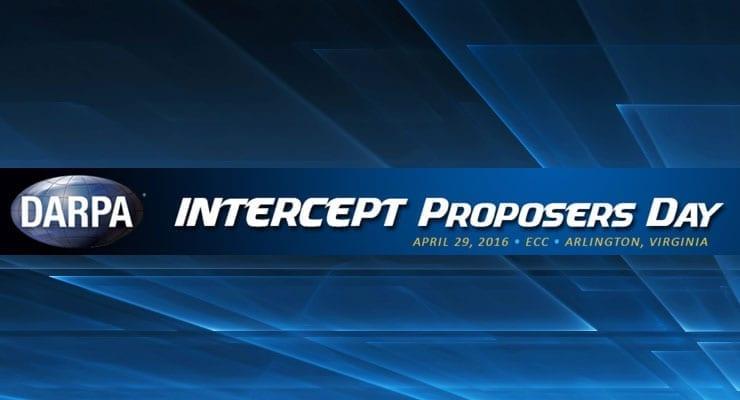 DARPA Intercept Proposer's Day Conference