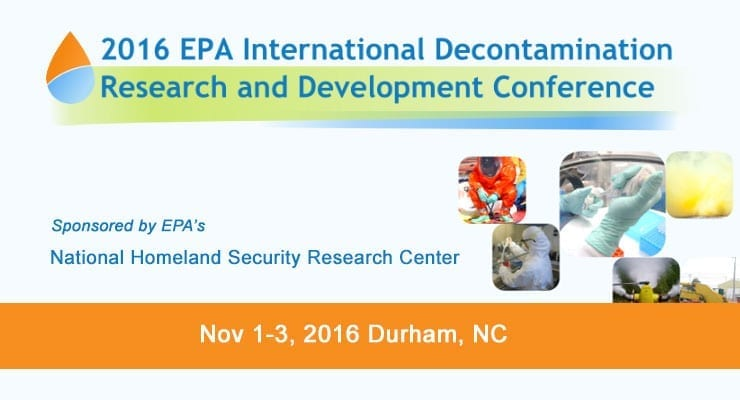 2016 EPA Decontamination Research and Development Conference