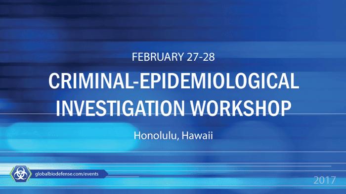 FBI-WMD-CDC Criminal-Epidemiological Investigations Training