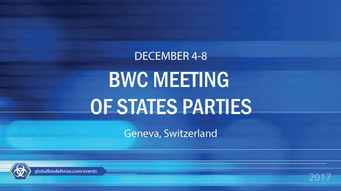 BWC Meeting of States Parties 2017