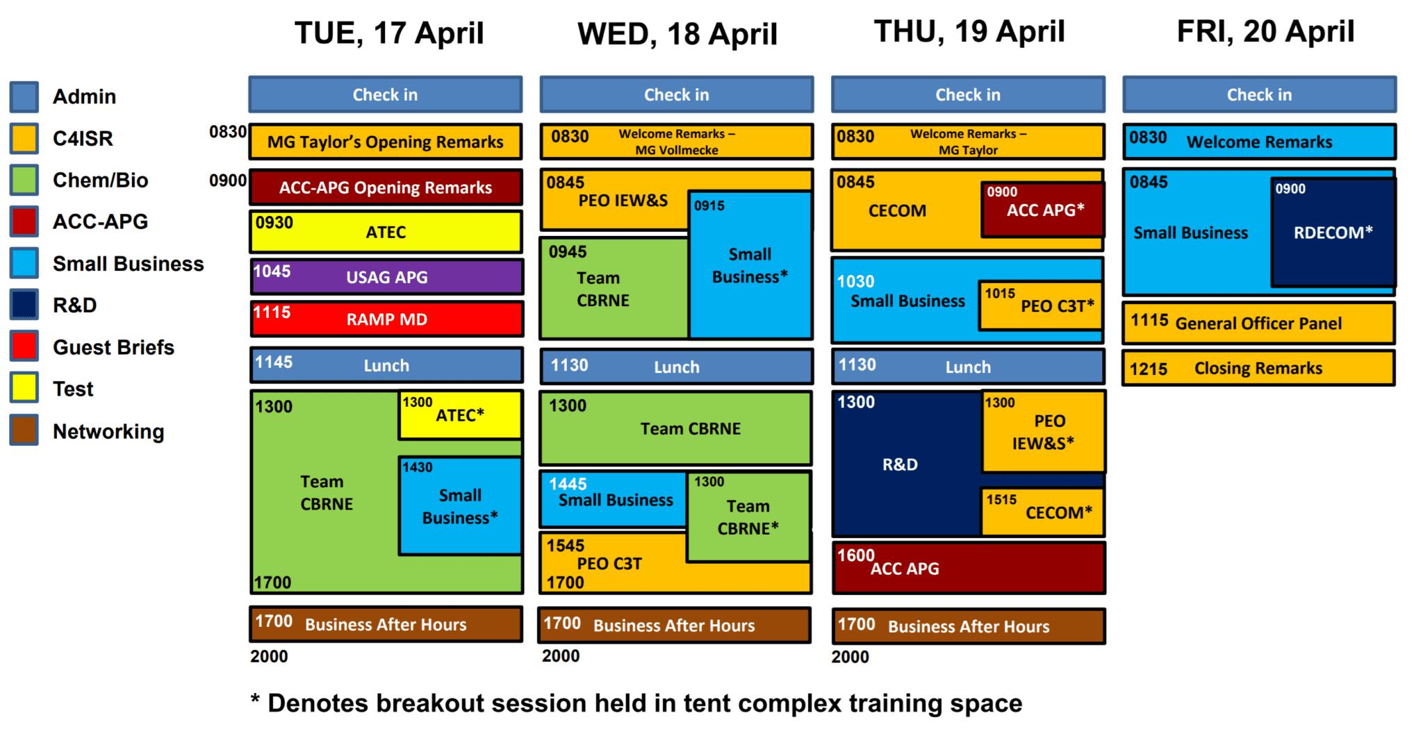 APG APBI 2018 Schedule