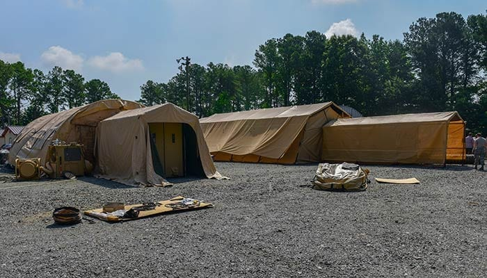 EMEDS Expeditionary Medical Tents with CBRN Protective Liners