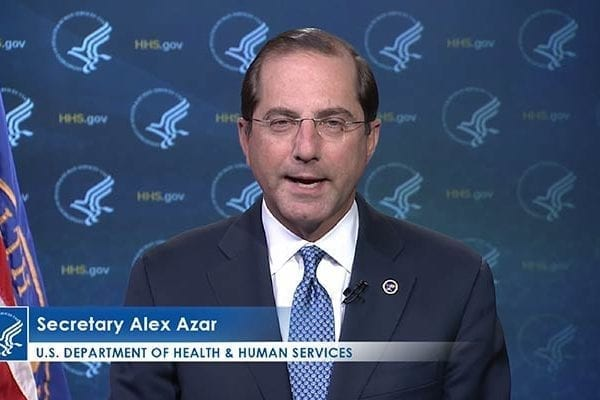 Azar Defends Delay on Funding Request