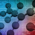 Molecules overlay computer code represent cyberbiosecurity