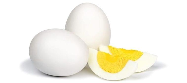 sliced hard-boiled eggs