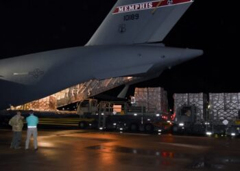 In Pictures: DoD Airlifts Swabs for COVID-19 Testing from Italy to Memphis