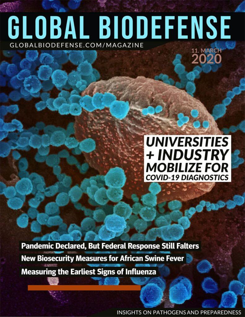 Global Biodefense Magazine - 11 March 2020 Pandemic Coronavirus