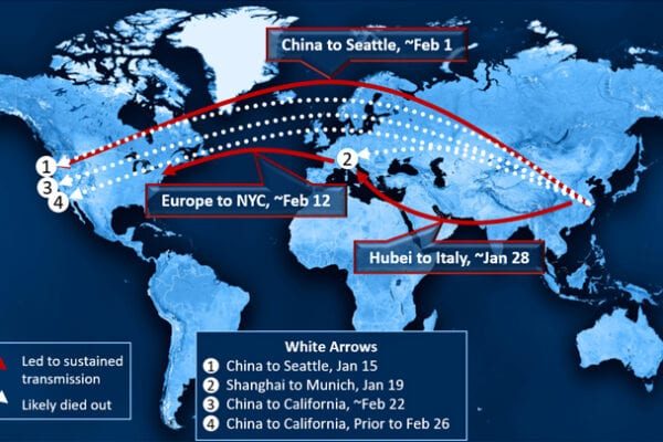 How COVID-19 Took Hold in North America and Europe